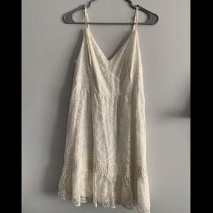Hollister Ivory Mini Lace Dress - Large